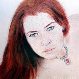 Red Hair and Freckled Beauty Remake by Jim Fitzpatrick