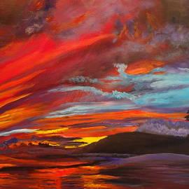 Jenny Lee - Red Hawaiian Sunset