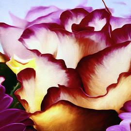 Red Lipped Petals by Georgiana Romanovna