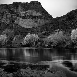 Red Mountain in Black and White by Dave Dilli