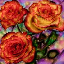 Lilia D - Red Roses in water - Silk edition