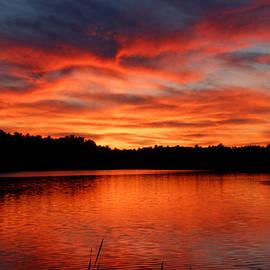 Denyse Duhaime - Red Sunset Reflections