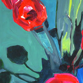 Tanya Filichkin - Red Tulips Abstract