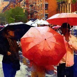 RC deWinter - Red Umbrellas in the Rain
