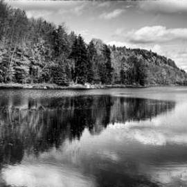 Reflections on Bald Mountain Pond by David Patterson