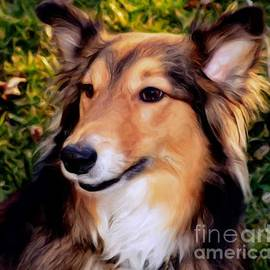 Regal Shelter Dog by Luther Fine Art