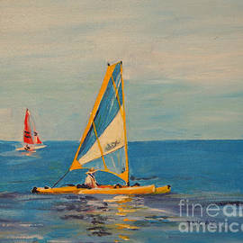 Relaxing in the Hobie by Barbara Moak