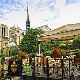 Restaurant On Seine by Elena Elisseeva