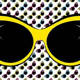 Retro Yellow Cat Sunglasses by MM Anderson