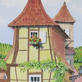 Mary Ellen Mueller Legault - Ribeauville Village in Alsace