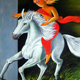 Riding Horse by Asp Arts