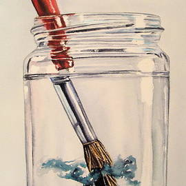 Lillian  Bell - Rinsing brush watercolour art