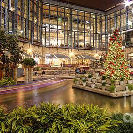 Rivercenter Christmas Tree at the Riverwalk - San Antonio Texas by Silvio Ligutti