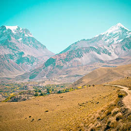 Raimond Klavins - Road in Himalyas mountain to Muktinath