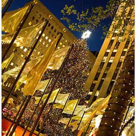 Rockefeller Center Christmas Card by Nancy De Flon
