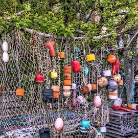 Susan Candelario - Rockport Fishing Net And Buoys