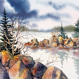 Rocky Shore by Teresa Ascone