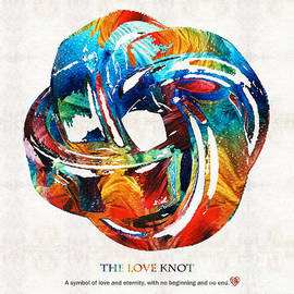 Sharon Cummings - Romantic Love Art - The Love Knot - By Sharon Cummings