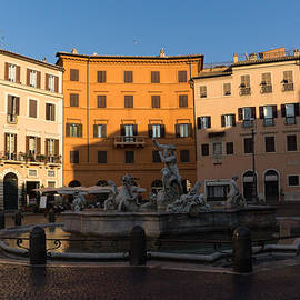 Rome's Fabulous Fountains - Fountain of Neptune Piazza Navona Rome Italy by Georgia Mizuleva