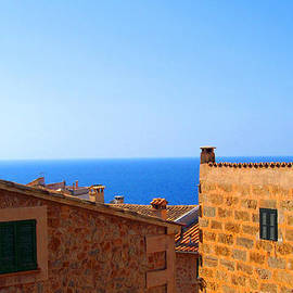 Tina M Wenger - Rooftop View Of The Med Sea