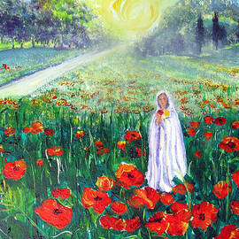 Sarah Hornsby - Rosa Mistica with Poppies