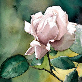Greta Corens - Watercolor of a Lilac Rose