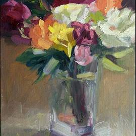 Roses In North Light by Linda Riesenberg Fisler