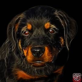 Rottweiler Pop Art 0481 - Bb by James Ahn