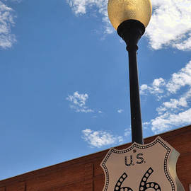 Route 66 Light Post Vivid by Jeanne May