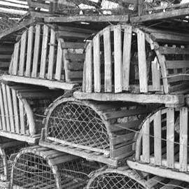 Rows of Old and Abandoned Lobster Traps by John Telfer