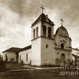 Royal Presidio Chapel Monterey California circa 1920 by California Views Archives Mr Pat Hathaway Archives