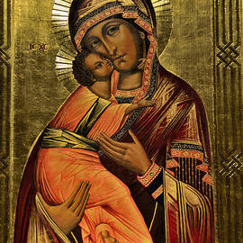 Elzbieta Fazel - Russian icon  Our Lady of Vladimir