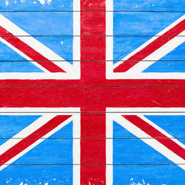 Rustic British Union Jack - Vintage Flag by Mark Tisdale