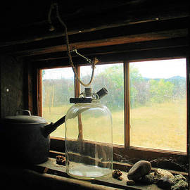 Rustic Cabin Window Sill by Gerry Bates