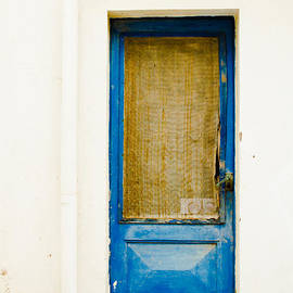 Rustic Shade Blue Door of Spain by Calvin Hanson