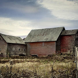 Rustic Vermont Red Barn by John Vose