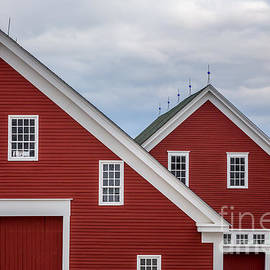 Sabbathday Lake Red Barns by Susan Cole Kelly