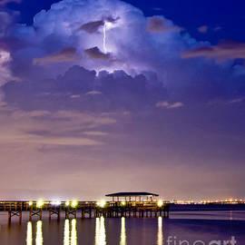 Safety Harbor Pier Illuminated by Stephen Whalen