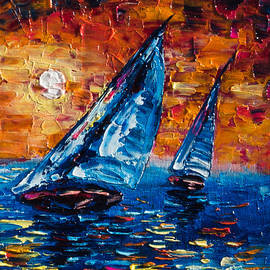 Sailboat Sunset  by OLena Art Brand