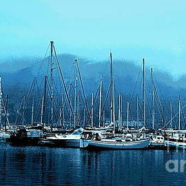 Sailboats on a Foggy Morning by Catherine Sherman