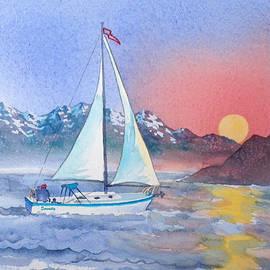 Sailing at Sunset by Teresa Ascone