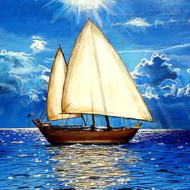 Sailing boat by Amani Al Hajeri