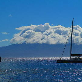 Sailing by Molokai by Elaine Haakenson