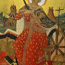 Elzbieta Fazel - Saint Catherine of Alexandria Icon