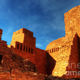 Salinas Pueblo Abo Mission Golden Light by Bob Christopher