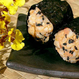 Salmon and Black Sesame Onigiri by James Temple