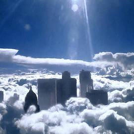 Salt Lake City in the Clouds by Barbara D Richards