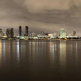 San Diego Skyline Panoramic 3 by Lee Kirchhevel