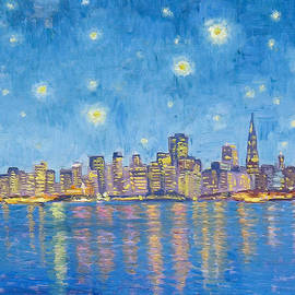 San Francisco Starry Night by Dominique Amendola