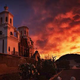 San Javier del Bac Sunrise by Priscilla Burgers